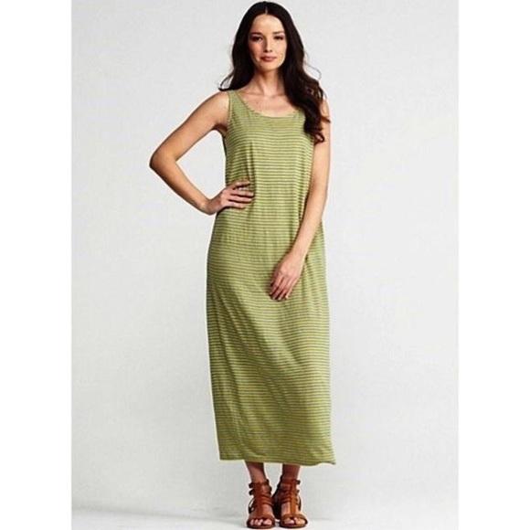 48d1ce1ec4af Eileen Fisher Dresses & Skirts - Eileen Fisher   Citron Striped Linen Maxi  Dress